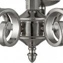 Lámpara clásica techo Richmond en plata satinada con cinco luces