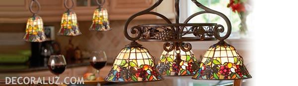 lamparas de techo tiffany