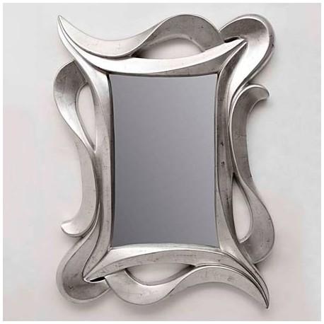 Espejos decorativos de madera en color plata de gran estilo, una de las ultimas tendencias para decorar aparadores y/o recibidores modernos. Compra este espejo online en DECORALUZ