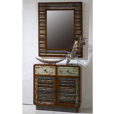 Mueble entrada vintage con espejo